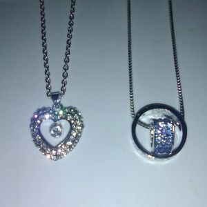 Lot of 2 Beautiful charm necklace, pendant & chain